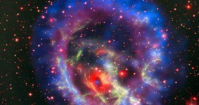 Descubren una estrella de neutrones oculta en una nube de gas