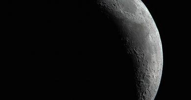 Imagen de la Luna creciente tomada desde Washington, EE. UU.