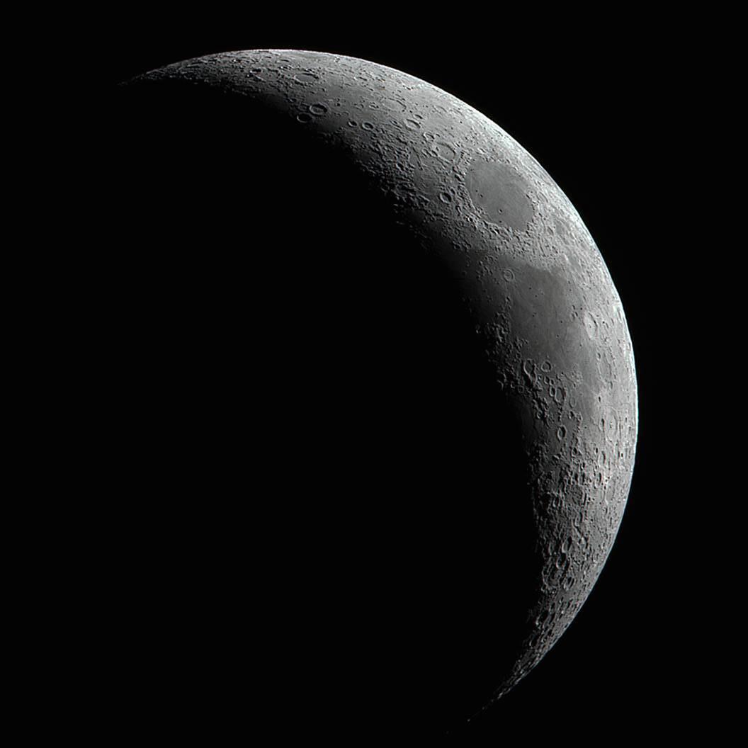 Imagen de la Luna creciente tomada desde Washington, EE. UU ...