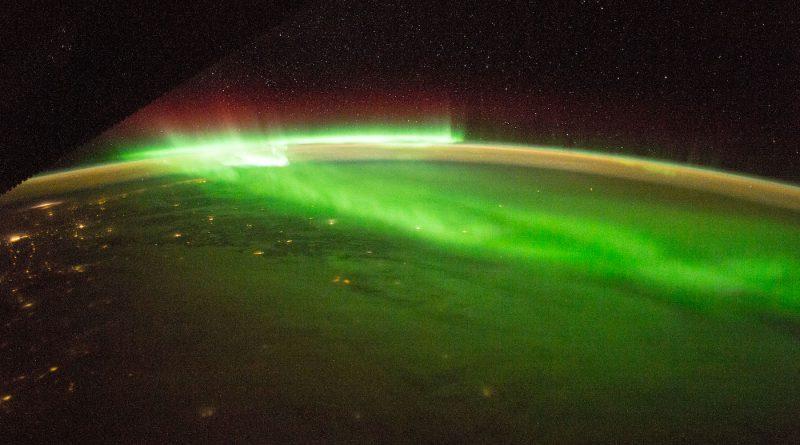 Auroras boreales captadas desde la Estación Espacial Internacional