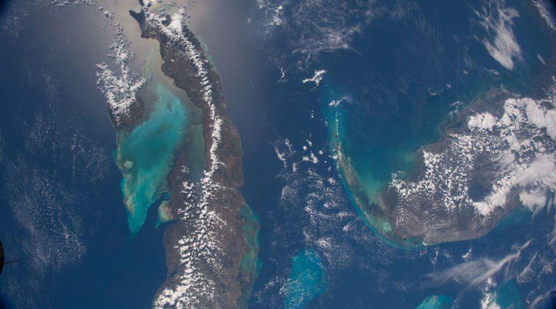 Cuba y la península de Florida desde la Estación Espacial Internacional
