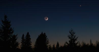 La conjunción de la Luna y Venus desde Ontario, Canadá