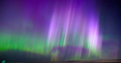 Auroras boreales fotografiadas desde Míchigan, Estados Unidos