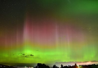 Auroras australes captadas desde la isla de Tasmania
