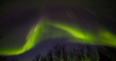 Auroras boreales fotografiadas desde Fairbanks, Alaska