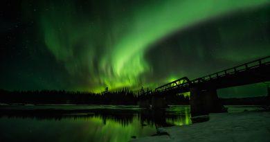 Auroras boreales fotografiadas desde la provincia de Ontario, Canadá