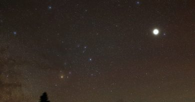 Imagen de Júpiter y la constelación de Escorpio (19 de mayo)