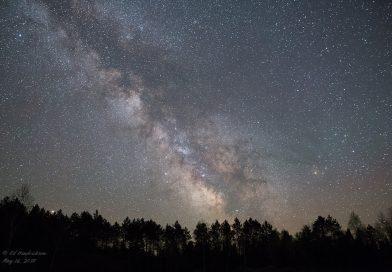 La Vía Láctea fotografiada desde Wisconsin, Estados Unidos