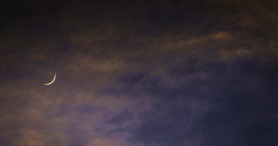 Foto de la Luna y Venus desde Iowa, EE. UU. (17 de mayo)