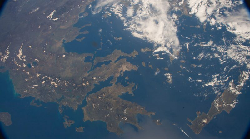 Imagen de Grecia tomada desde la Estación Espacial Internacional