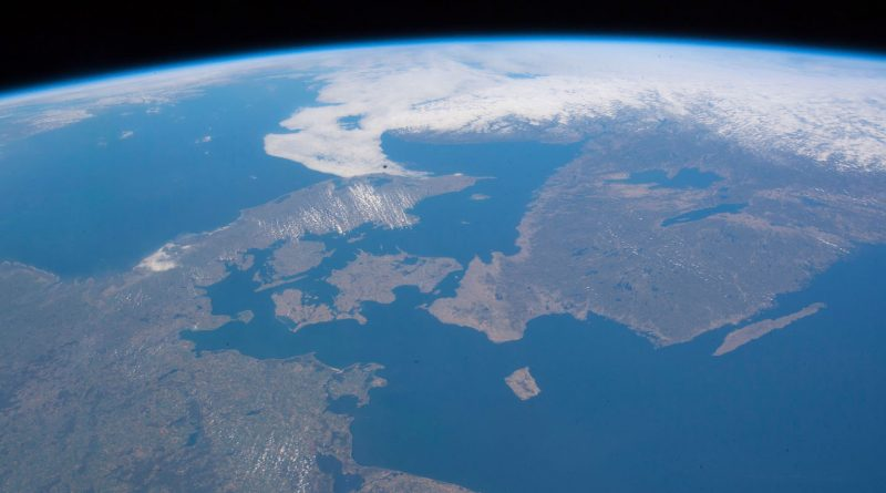 El norte de Alemania, Dinamarca y el sur de Suecia desde la ISS