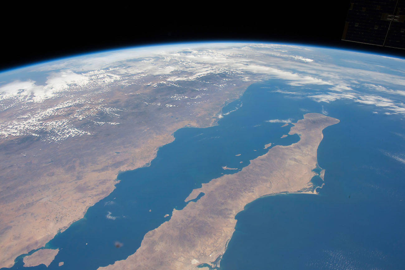 vista satelital del mar de Cortés