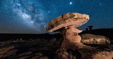 Júpiter y la Vía Láctea desde Utah, Estados Unidos