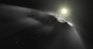 Astrónomos detectan un aumento en la velocidad del objeto interestelar `Oumuamua