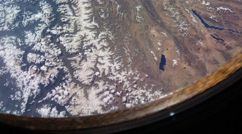 La cordillera del Himalaya y el Tíbet desde la ISS