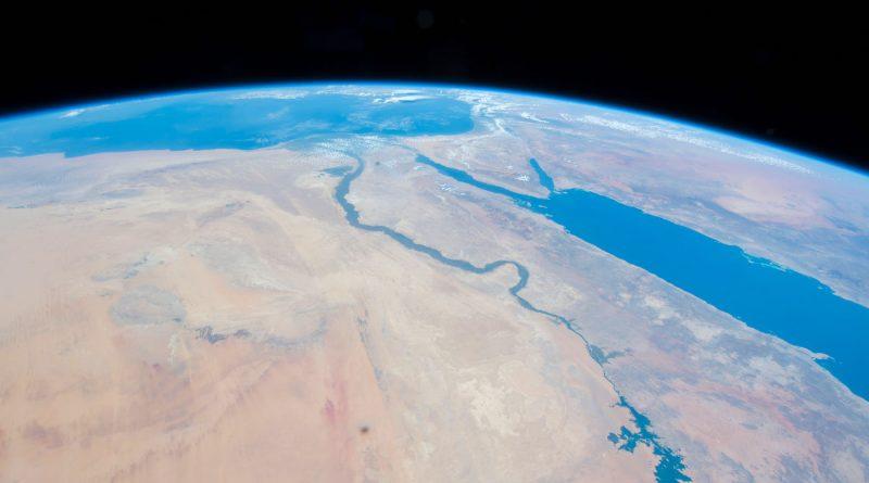 El río Nilo y el mar Rojo desde la ISS