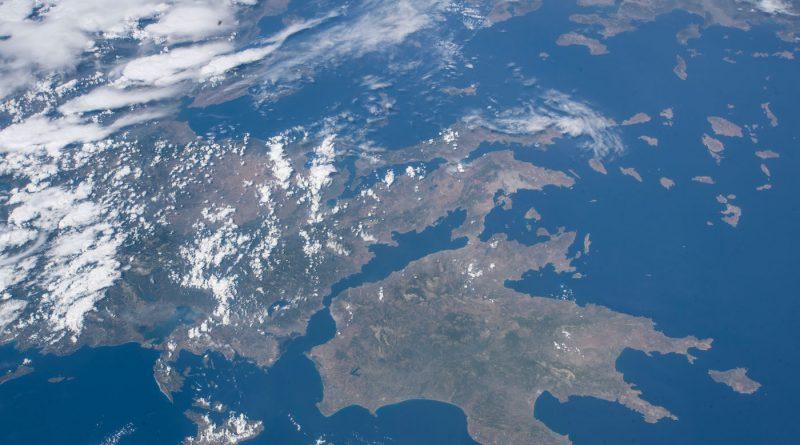 Grecia fotografiada desde la Estación Espacial Internacional