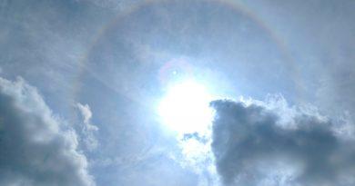 Halo solar fotografiado desde Texas, Estados Unidos