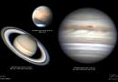 Imágenes de Júpiter, Saturno y Marte tomadas desde Malasia
