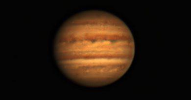 Júpiter fotografiado desde Gliwice, Polonia