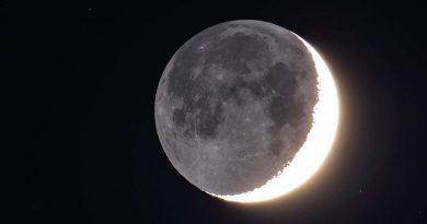La Luna fotografiada desde Utah, Estados Unidos