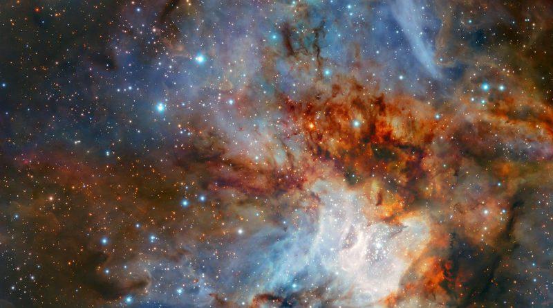 Astrónomos observan una guardería estelar en la constelación de Vela