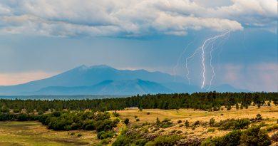 Tormenta eléctrica captada en Arizona, Estados Unidos