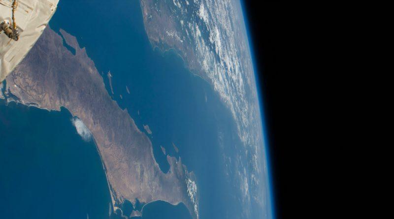 La península de Baja California (México) fotografiada desde la ISS