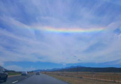 Arco circunhorizontal fotografiado en Utah, Estados Unidos