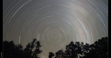 Imagen de rastro de estrellas tomada desde Nueva Gales del Sur, Australia