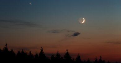 Venus y la Luna fotografiados desde Hungría