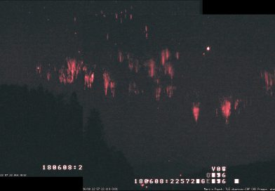 Espectros rojos fotografiados desde República Checa