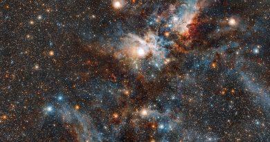 El VLT obtiene imágenes en luz infrarroja de la Nebulosa Carina