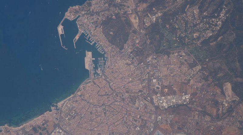 Palma de Mallorca fotografiada desde la Estación Espacial Internacional