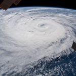 Fotos del tifón Soulik tomadas desde la Estación Espacial Internacional