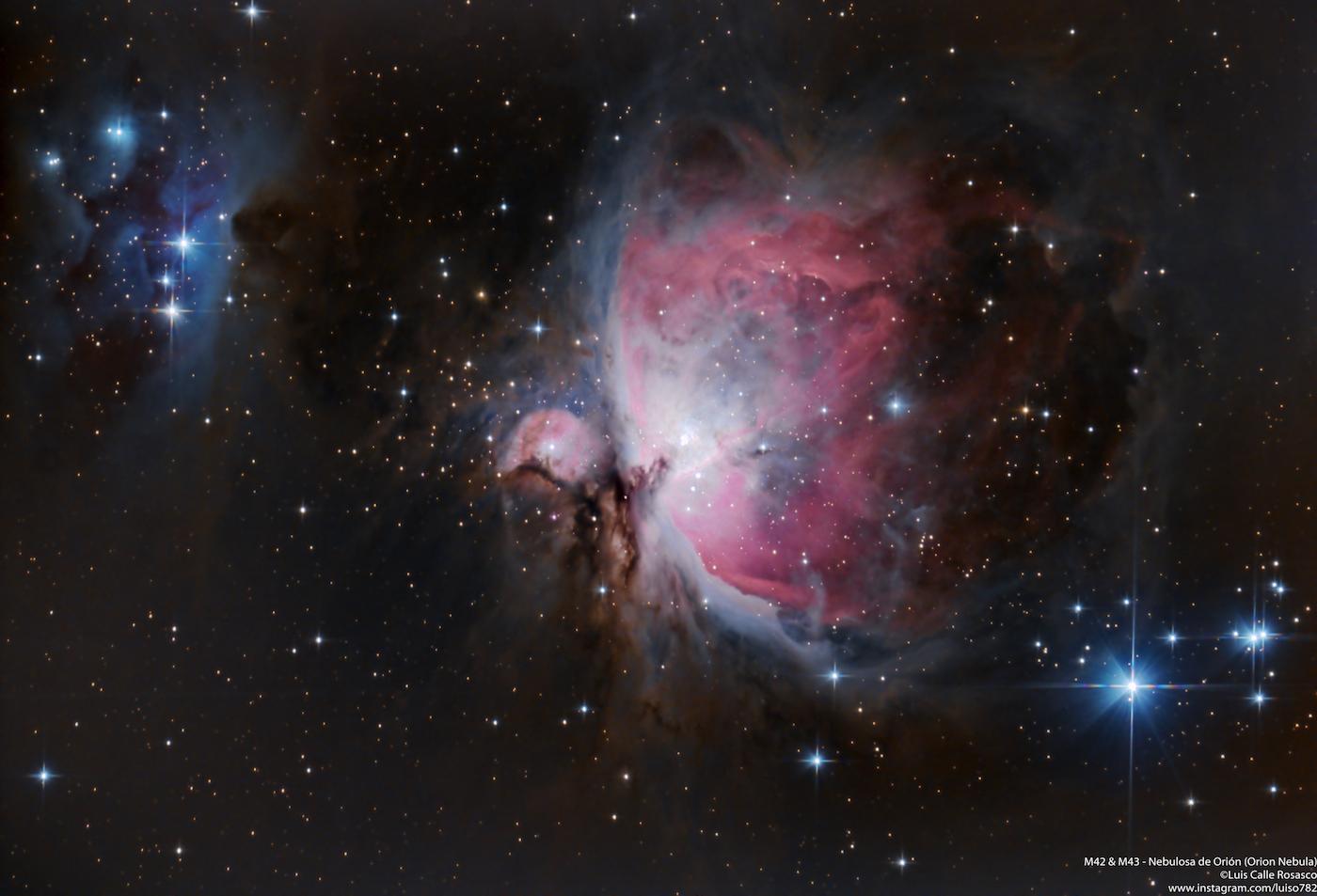 Imagen de la nebulosa de ori n messier 42 tomada desde lima per el universo hoy - Calle nebulosas madrid ...