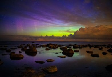 Auroras boreales fotografiadas desde Türisalu, Estonia