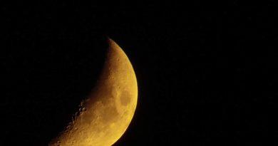 Imagen de la Luna tomada desde Carolina del Norte, Estados Unidos