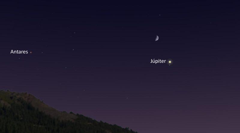 Esta noche se podrá ver la conjunción de la Luna y Júpiter