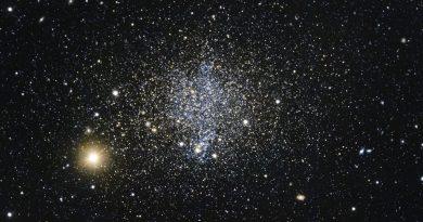 Astrónomos observan una galaxia explosiva en la constelación de Fénix