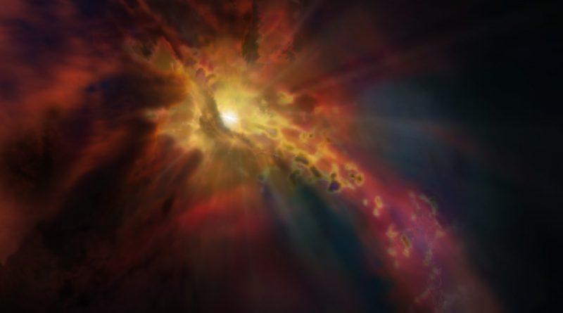 Fuertes vientos inhiben nacimiento de estrellas en galaxia lejana