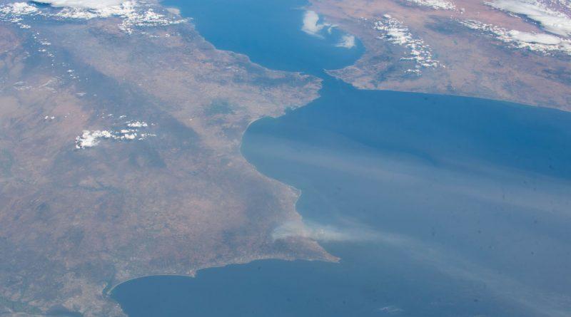 Imagen del Estrecho de Gibraltar tomada desde la ISS
