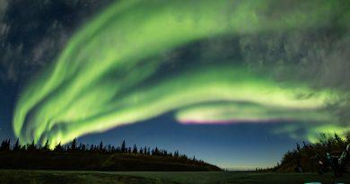 Auroras boreales captadas el 23 de septiembre desde Alaska