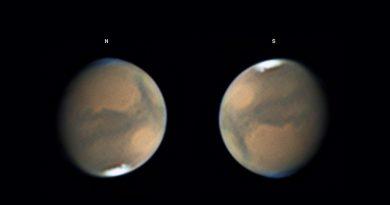 Imágenes de Marte tomadas el 21 de septiembre de 2018