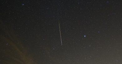 Fotografía de una oriónida tomada desde Arizona, Estados Unidos