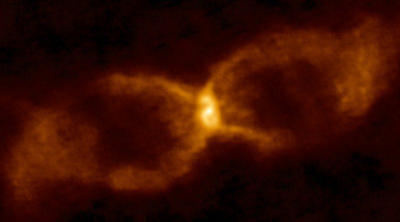 Astrónomos observan un extraño remanente con forma de reloj de arena