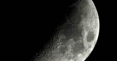 La Luna fotografiada el 15 de octubre de 2018