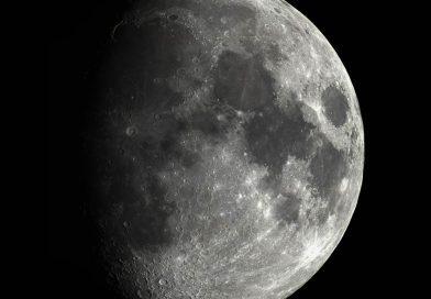 Foto de la Luna gibosa creciente tomada desde Washington, Estados Unidos