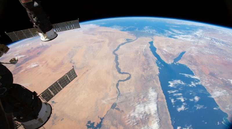 El Mar Rojo y el Río Nilo fotografiados desde la ISS