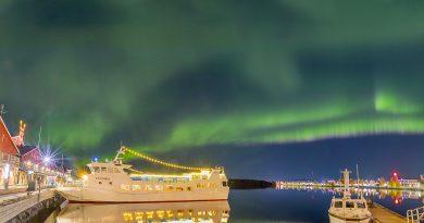 Auroras boreales fotografiadas desde Luleå, Suecia